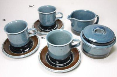 画像1: ARABIA/アラビア/Meri/メリ/コーヒーカップ&ソーサー/No.3