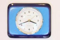 ヴィンテージ陶製壁掛け時計/KIENZLE製 /ドイツ/ブルー