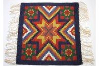 北欧ビンテージ/スウェーデン/手織り物/フレミッシュ織り/テーブルセンター/No.2