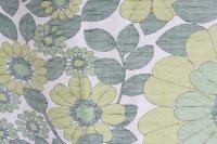 北欧ヴィンテージファブリック/スウェーデン/グリーン花柄