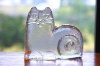 スウェーデン/Royal Krona/ガラスのネコ/リサ・ラーソン/ビンテージ