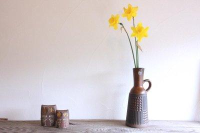 画像1: ビンテージ北欧雑貨/Upsala Ekeby /ウプサラ エクビィ/マリ・シムルソン/Grafit/Ruta/花瓶