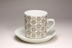 画像1: 北欧ビンテージ食器/ARABIA/アラビア/Rypale/リュパレ/コーヒーカップ&ソーサー/グレー/ No.2 (1)