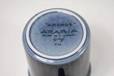 画像6: 北欧ビンテージ食器/ARABIA/アラビア/Gunvor Olin-Gronqvist/Kosmos/コスモス/モーニングカップ&ソーサー/貴重ブルー (6)