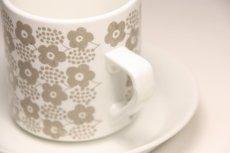 画像2: 北欧ビンテージ食器/ARABIA/アラビア/Rypale/リュパレ/コーヒーカップ&ソーサー/グレー/ No.2 (2)