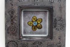画像2: 北欧ビンテージ/北欧アート/Rut Bryk/ルート・ブリュック/陶板/アートオブジェクト/ダークモーブカラー (2)