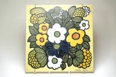 画像1: ARABIA/アラビア/ライヤ・ウオシッキネン/レア陶板/花 (1)
