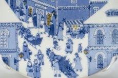 画像2: ARABIA/アラビア/ミニイヤープレート/ミニクリスマスプレート/Christmas street/No.8 (2)
