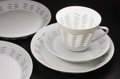 画像1: ARABIA/アラビア/Rice/ライス/ヘリンボーン柄/コーヒーカップ&ソーサー