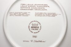 画像5: ARABIA/アラビア/Kalevala/カレワラ/イヤープレート/1981年  (5)