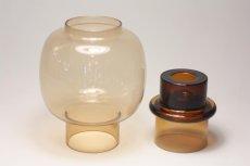 画像4: 北欧ビンテージガラス/ARABIA/キャンドルホルダー&キャンドルスタンド/ライトアンバー (4)