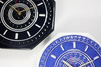 画像1: Gustavsberg/グスタフスベリ/スタジオ制作壁掛け時計/ブルー/新品クロックムーブメント使用
