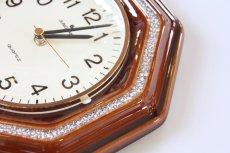 画像5: ビンテージ陶製壁掛け時計/Junghans製/ユンハンス/ドイツ/ブラウン (5)