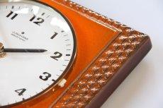 画像4: ビンテージ陶製壁掛け時計/Junghans製/ユンハンス/ドイツ/オレンジ (4)
