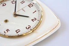 画像4: ビンテージ陶製壁掛け時計/Diehl製/ドイツ/アイボリー (4)