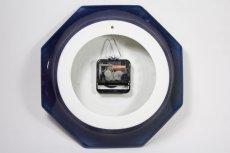 画像4: ビンテージ時計/Gustavsberg/グスタフスベリ/スタジオ制作壁掛け時計/ネイビー/新品クロックムーブメント使用  (4)