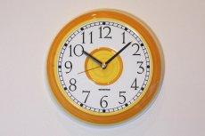 画像1: ビンテージ時計/Rorstrand/ロールストランド/壁掛け時計/サークル/イエロー (1)