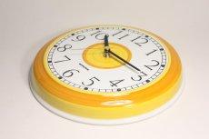 画像4: ビンテージ時計/Rorstrand/ロールストランド/壁掛け時計/サークル/イエロー (4)
