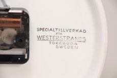 画像5: ビンテージ時計/Rorstrand/ロールストランド/壁掛け時計/サークル/イエロー (5)