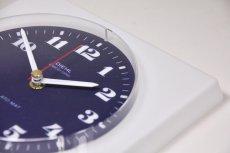 画像4: ビンテージ/壁掛け時計/Diehl製/ドイツ/プラスチック/ホワイト&ネイビー (4)