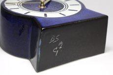 画像5: Gustavsberg/グスタフスベリ/スタジオ製/置き時計/ネイビー/新品クロックムーブメント使用/超レア  (5)