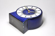 画像4: Gustavsberg/グスタフスベリ/スタジオ製/置き時計/ネイビー/新品クロックムーブメント使用/超レア  (4)