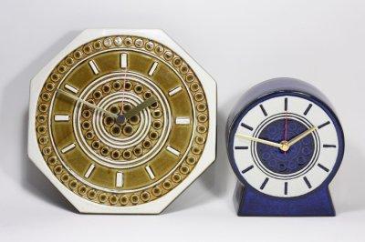 画像1: Gustavsberg/グスタフスベリ/スタジオ製/置き時計/ネイビー/新品クロックムーブメント使用/超レア