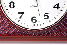 画像3: ビンテージ陶製壁掛け時計/Deluxe製/ドイツ/レッド (3)