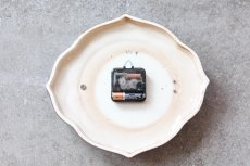 画像5: ビンテージ陶製壁掛け時計/Runa/ドイツ/ブラウン (5)