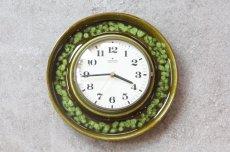 画像1: ビンテージ陶製壁掛け時計/Junghans/ドイツ/ダークグリーン (1)