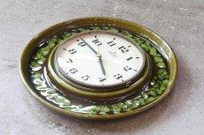 画像3: ビンテージ陶製壁掛け時計/Junghans/ドイツ/ダークグリーン (3)