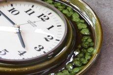 画像4: ビンテージ陶製壁掛け時計/Junghans/ドイツ/ダークグリーン (4)