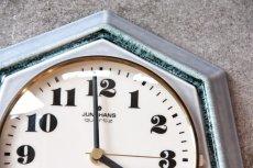 画像2: ビンテージ陶製壁掛け時計/Junghans/ドイツ/ペールグリーン (2)