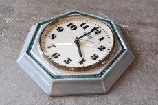 画像4: ビンテージ陶製壁掛け時計/Junghans/ドイツ/ペールグリーン (4)