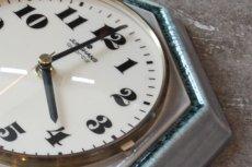 画像5: ビンテージ陶製壁掛け時計/Junghans/ドイツ/ペールグリーン (5)