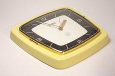 画像6: ビンテージ陶製壁掛け時計/Hettich Schwebegang製/ドイツ/イエロー (6)