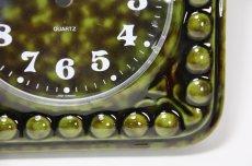 画像3: ビンテージ陶製壁掛け時計/STAIGER製/スタイガー/ドイツ/ダークグリーン (3)