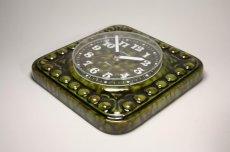 画像5: ビンテージ陶製壁掛け時計/STAIGER製/スタイガー/ドイツ/ダークグリーン (5)