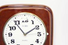 画像2: ビンテージ陶製壁掛け時計/Morelime製/ドイツ/ブラウン/新しいムーブメント交換済み (2)