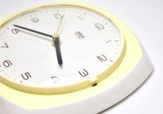 画像4: ビンテージ陶製壁掛け時計/Wehrle製/ドイツ/ペールイエロー/新しいムーブメント交換済み (4)