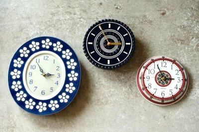 画像1: Rorstrand/ロールストランド&Westerstrand/壁掛け時計/レッド&ブラック