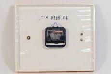 画像4: ビンテージ陶製壁掛け時計/Kienzle製/ドイツ/イエローボーダー/新しいムーブメント交換済み (4)