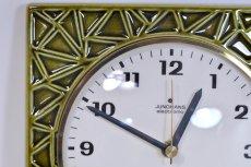 画像2: ビンテージ陶製壁掛け時計/Junghans/ドイツ/オリーブグリーン (2)