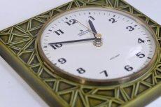 画像3: ビンテージ陶製壁掛け時計/Junghans/ドイツ/オリーブグリーン (3)