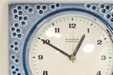 画像2: ビンテージ陶製壁掛け時計/Kienzle製/ドイツ/ドット柄/新しいムーブメント交換済み (2)