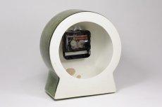 画像4: Gustavsberg/グスタフスベリ/ビンテージ時計/スタジオ製/置き時計/ペールグリーン/新品ムーブメント使用/超レア  (4)