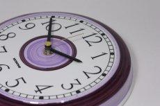 画像4: Rorstrand/ロールストランド/ビンテージ時計/壁掛け時計/サークル/アメジスト/新品クォーツムーブメント使用 (4)