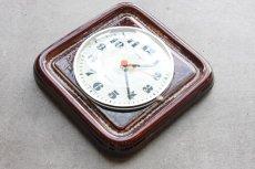 画像3: ビンテージ陶製壁掛け時計/KIENZLE製 /ドイツ/ブラウン (3)