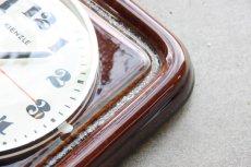 画像5: ビンテージ陶製壁掛け時計/KIENZLE製 /ドイツ/ブラウン (5)