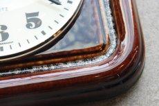 画像4: ビンテージ陶製壁掛け時計/KIENZLE製 /ドイツ/ブラウン (4)